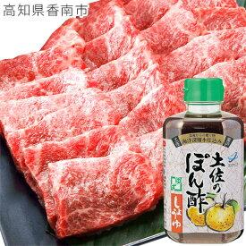 【ふるさと納税】和牛 牛肉 肉土佐和牛上カルビ焼肉&ぽん酢しょうゆセット【saneyam】 送料無料 C-152