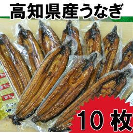 【ふるさと納税】高知県産うなぎの蒲焼き10枚 特製かば焼きのタレ 山椒 付き
