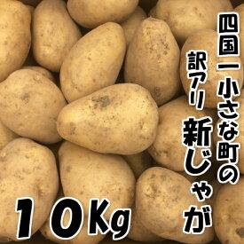 【ふるさと納税】四国一小さな町のじゃがいも。高知県田野町の大野台地で採れた新じゃが10Kg訳アリ品。サイズがバラバラで大きいサイズから小さいサイズまで混載しております。味は全く変わりありません。