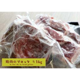【ふるさと納税】いのしし肉(ブロック) ≒1kg