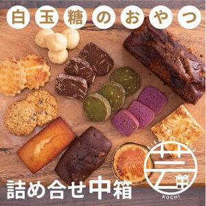 【ふるさと納税】白玉糖のおやつ 詰め合せ缶 中箱<焼菓子 クッキー サブレ スノーボール フロランタン>