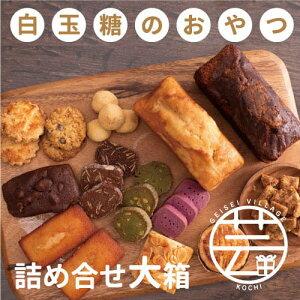 【ふるさと納税】白玉糖のおやつ 詰め合せ缶 大箱<焼菓子 クッキー サブレ スノーボール フロランタン>
