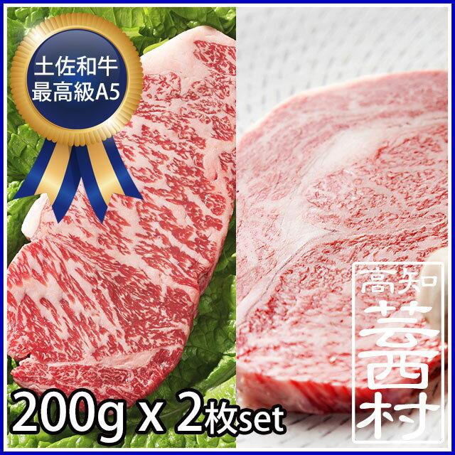 【ふるさと納税】土佐和牛特選サーロイン&リブロースステーキ200g×2枚セット牛肉 ステーキ肉 最高級 A5 steak beef特産品 高知県産 ギフト 【SaNeYam】(新)