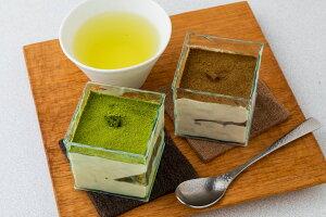 【ふるさと納税】(B4-2)茶畑ティラミス 2種(かぶせ茶3個 ほうじ茶3個)