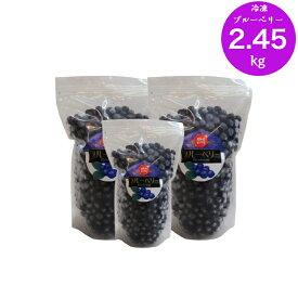 【ふるさと納税】<ブルーベリー(冷凍)2.45kg>高知県 佐川町 果物 フルーツ 国産 冷凍ブルーベリー