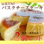 【ふるさと納税】Bmu-63バスクチーズケーキ〜四万十の米粉入り〜2個セット【期間限定】