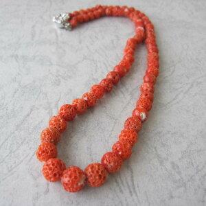 【ふるさと納税】高知産天然赤珊瑚す玉のネックレス