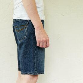 【ふるさと納税】[1051]isaデニムハーフパンツ men's Lサイズ