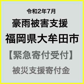 【ふるさと納税】【令和2年7月 豪雨災害支援緊急寄附受付】福岡県大牟田市災害応援寄附金(返礼品はありません)