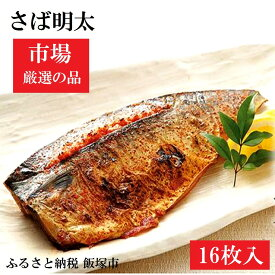 【ふるさと納税】【A5-121】魚市場厳選 さば明太(16枚)