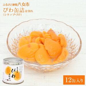 【ふるさと納税】びわの缶詰(身割れ) 12缶セット 枇杷