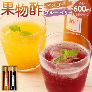 【ふるさと納税】果物酢(マンゴー・ブルーベリー)セット【牛乳やソーダ割・ヨーグルトにかけて】