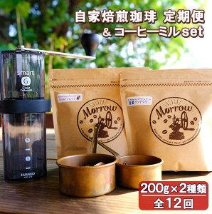 【ふるさと納税】珈琲定期便 12カ月(増量)& コーヒーミル・スマートG