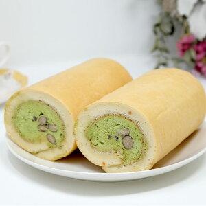 【ふるさと納税】手作り大豆粉ロールケーキ(黒豆抹茶)【低糖質】