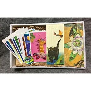 【ふるさと納税】【オリジナルアートセット1】ポストカード(10枚)・一筆箋(2冊)・ペーパーウェイト(1つ)【1084750】