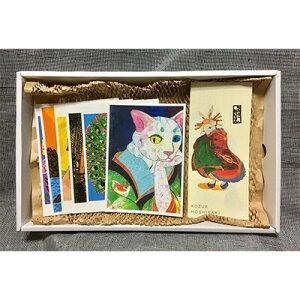【ふるさと納税】【オリジナルアートセット5】ポストカード(6枚)・一筆箋(1冊)【1084754】