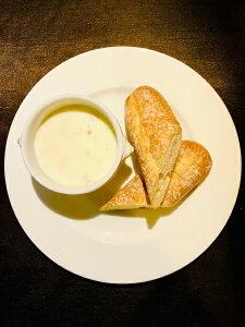 【ふるさと納税】M1057_天然鯛のポタージュスープ〜フランスパン添え〜(2人前)
