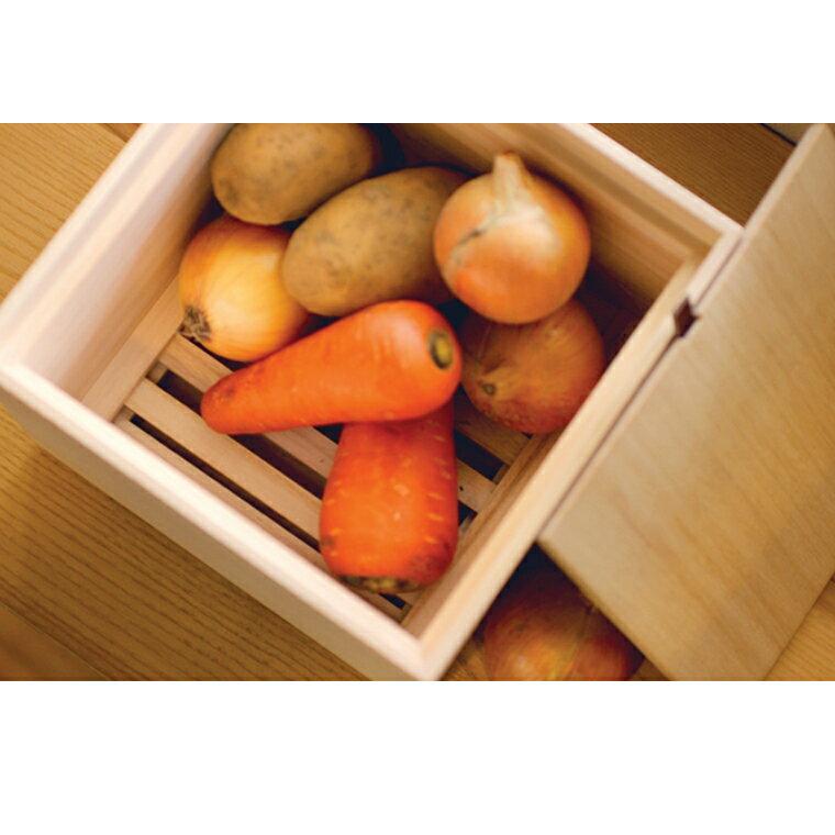 【ふるさと納税】野菜保存箱(桐製)<Lサイズ>