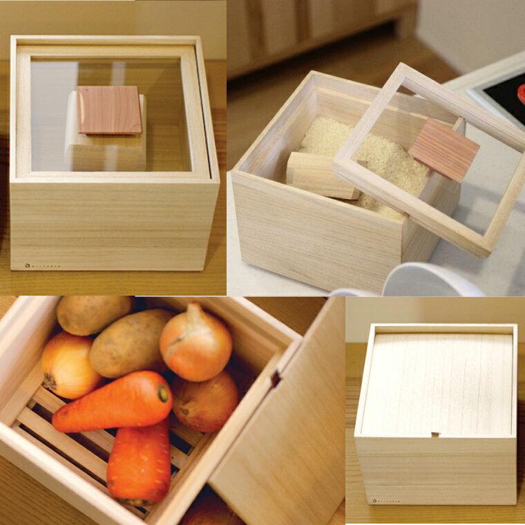 【ふるさと納税】<桐製>米びつ(5kgタイプ)+野菜保存箱(Lサイズ)