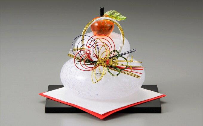 【ふるさと納税】ガラス置物<鏡餅(大)> ◆マルティグラス 【工芸品・お正月・インテリア】