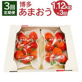 【ふるさと納税】【年3回定期便】 博多あまおう 4パック 約1.12kg 合計約3.3kg 2022年1月中旬より順次発送 国産 九州 福岡県産 イチゴ いちご 苺 果物 くだもの フルーツ 予約 送料無料 [C5341]