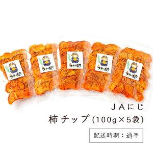 【ふるさと納税】 JAにじ 柿チップ100g×5袋