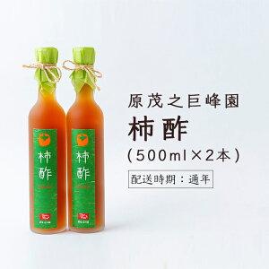 【ふるさと納税】原茂之巨峰園 柿酢2本