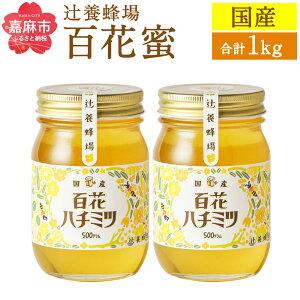 【ふるさと納税】辻養蜂場 百花蜜 500g×2個セット 合計 1kg はちみつ 蜂蜜 国産 九州産 瓶 送料無料