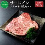 【ふるさと納税】博多和牛サーロインステーキ約180g×3枚合計約540g国産和牛牛肉肉九州冷凍送料無料