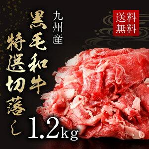 【ふるさと納税】九州産 黒毛和牛 特選切落し1.2kg...
