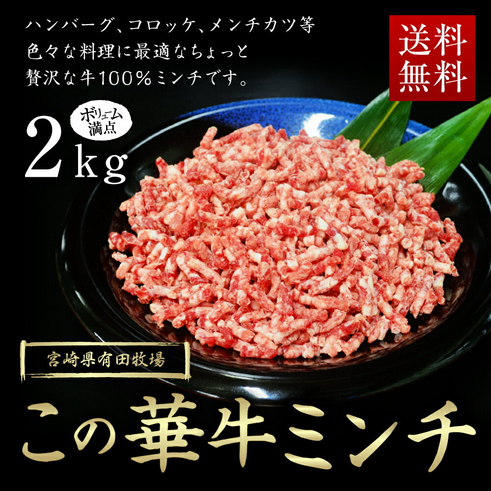 【ふるさと納税】この華牛100%ミンチ2kg(400g×5パック) 九州産 国産 国内産 牛肉 ミンチ