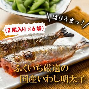 【ふるさと納税】AA17.ふくいち厳選の国産いわし明太子(2尾入り×6袋)