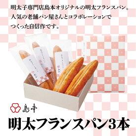 【ふるさと納税】Z018.明太フランスパン3本