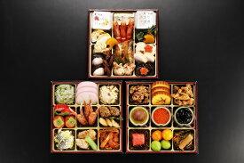 【ふるさと納税】日本料理てら岡・おせち/博多『雅』参段重(3~4人前).F035