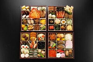 【ふるさと納税】日本料理てら岡・おせち/博多『寿』与段重+博多もつ鍋(醤油味)セット.JD01