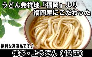 【ふるさと納税】A558.福岡・博多上うどん12玉入(便利な冷凍うどん)