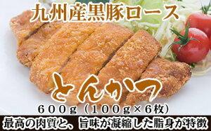 【ふるさと納税】A360.九州産黒豚ロースとんかつ(600g)
