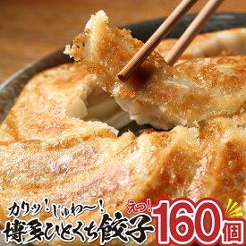 【ふるさと納税】ZI12.福岡・博多の味『博多一口餃子』160個入(40個入×4P)