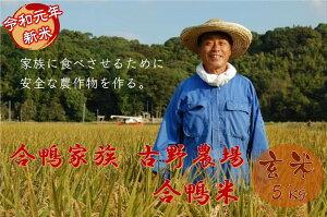 【ふるさと納税】古野農場の合鴨農法で作った無農薬米「合鴨米・玄米5kg」令和元年 2019年 新米 福岡県産 米