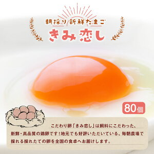 【ふるさと納税】朝採り新鮮たまごきみ恋し80個箱入り卵鶏卵送料無料