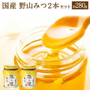 【ふるさと納税】野山みつ 2本セット 合計280g 140g×2本 国産 純粋蜂蜜 野山みつ ハチミツ 蜂蜜 ハニー 送料無料