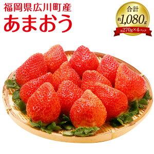 【ふるさと納税】あまおうセット 産地直送 約270g×4パック 合計約1080g 苺 いちご イチゴ ストロベリー 九州産 福岡県産 果物 くだもの フルーツ 送料無料