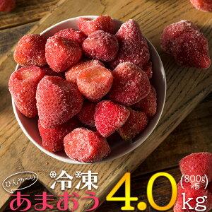 【ふるさと納税】 冷凍 博多 あまおう 4kg 送料込