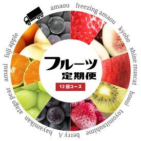 【ふるさと納税】あまおう 梨 キウイ シャインマスカット など 季節のフルーツ を 年12回 お届け します! 【 定期便 】 送料込