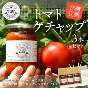 【ふるさと納税】 有機 完熟トマト の セット(ケチャップ280g×3本)