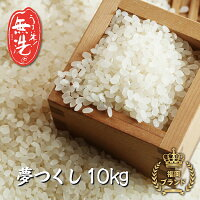 【ふるさと納税】磨き上げた高品質の無洗米!手間いらずの「福岡県産夢つくし」10kg