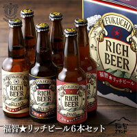 【ふるさと納税】福智マインドが詰まったニューフェイス「福智★リッチビール」6本セット
