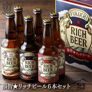 【ふるさと納税】福智★リッチビール6本セット(あまおう・いちじく・ピルスナー)