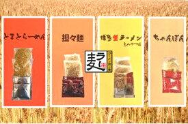 【ふるさと納税】CA0401 福岡県産ラー麦 麺4種詰合せ(4種×2食入)