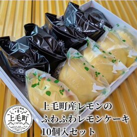 【ふるさと納税】K01701 上毛町産レモンのふわふわレモンケーキ 10個入セット